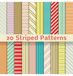 Retro striped seamless patterns tiling vector