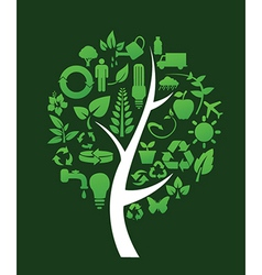 Recycling tree vector image
