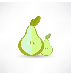 Pear icon on white background isolated vector