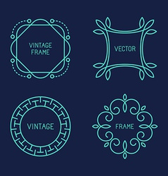 Set of line logo templates vector