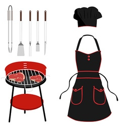 Barbeque tools vector