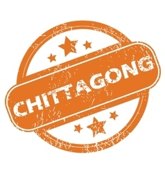 Chittagong round stamp vector