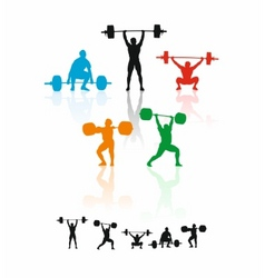 Weightlifters vector