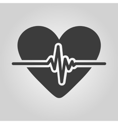 The heart icon cardiology and cardiogram ecg vector