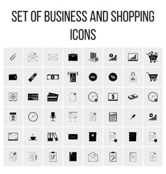 Set of colored icons in a flat style vector