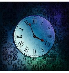 grungy clock vector image