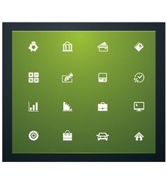 Bank related pictograms vector