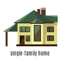 Flat house icon isolated on white background vector