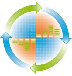 cycle arrows vector image