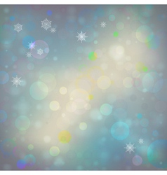 abstract Christmas bokeh background vector image