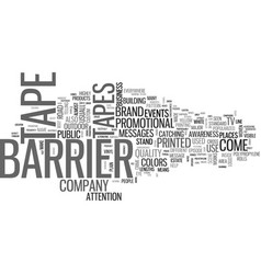 Barrier tape means don t enter this area text vector