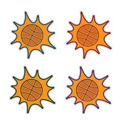 basketball splash set vector image