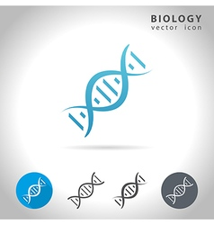 Biology blue icon vector