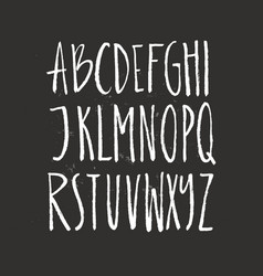 Brushy drawn font vector