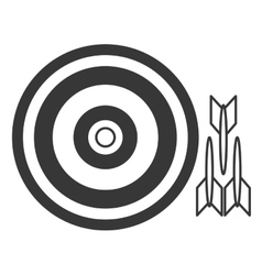 Bullseye with darts vector