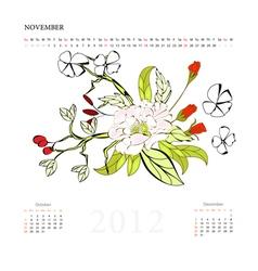 calendar for 2012 november vector image vector image