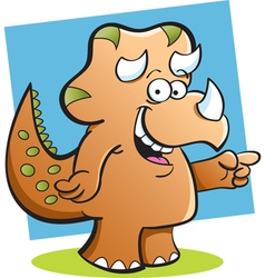 Cartoon Triceratops with a background vector image vector image