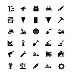 Construction icons 2 vector