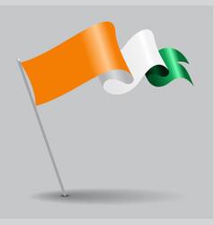 Cote d ivoire pin wavy flag vector