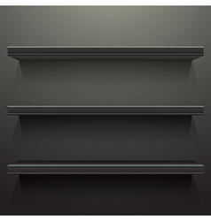 Dark background shelves vector image vector image