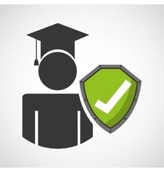 Education insurance concept icon vector