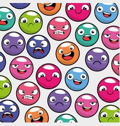 Emoji emoticon seamless pattern background vector