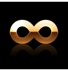 Golden infinity symbol vector