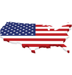 map usa with flag in 3d vector image