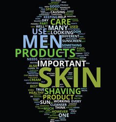 Men skin care text background word cloud concept vector