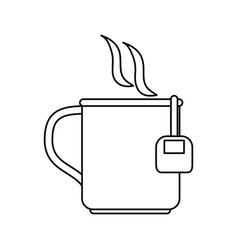 Mug with tea bag icon image vector