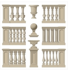 Outdoor and park elements balustrade decorative vector image vector image