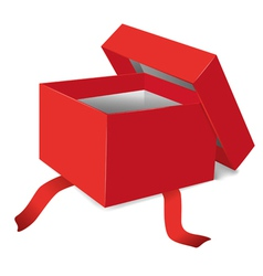 red opened gift box vector image