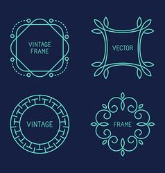 Set of line logo templates vector