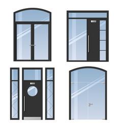 set of modern doors vector image vector image