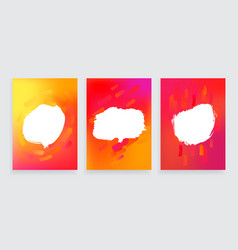 Set of three one style banners with abstract vector