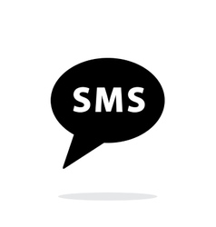 SMS message icon on white background vector image vector image
