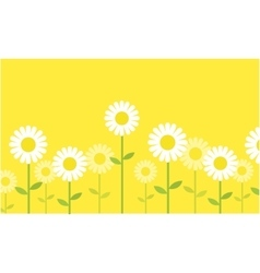 Spring background with flower vector