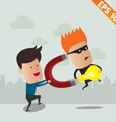 Thief steal idea - - EPS10 vector image vector image