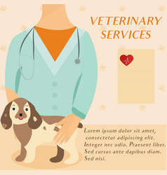 veterinary medicine hospital doctor with cute dog vector image