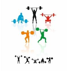 Weightlifters vector