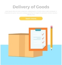 Delivery of goods banner packing product design vector