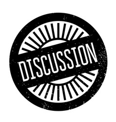 Discussion rubber stamp vector