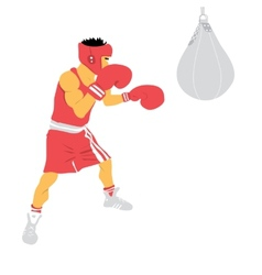 Boxing man vector