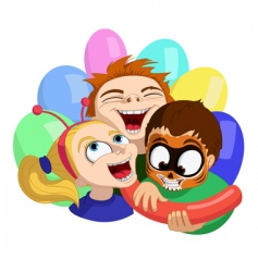 Crazy kids vector