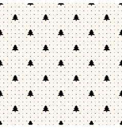 Seamless retro pattern christmas trees vector