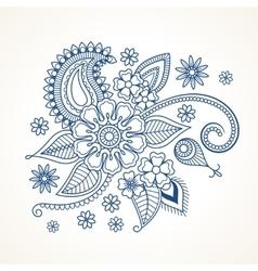 Blue floral design element vector
