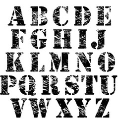 Grunge letters vector