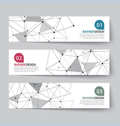 Banners set with abstract wireframe vector