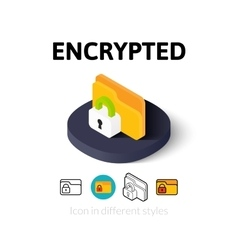 Encrypted icon in different style vector