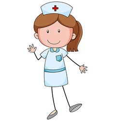 Female nurse with happy face vector